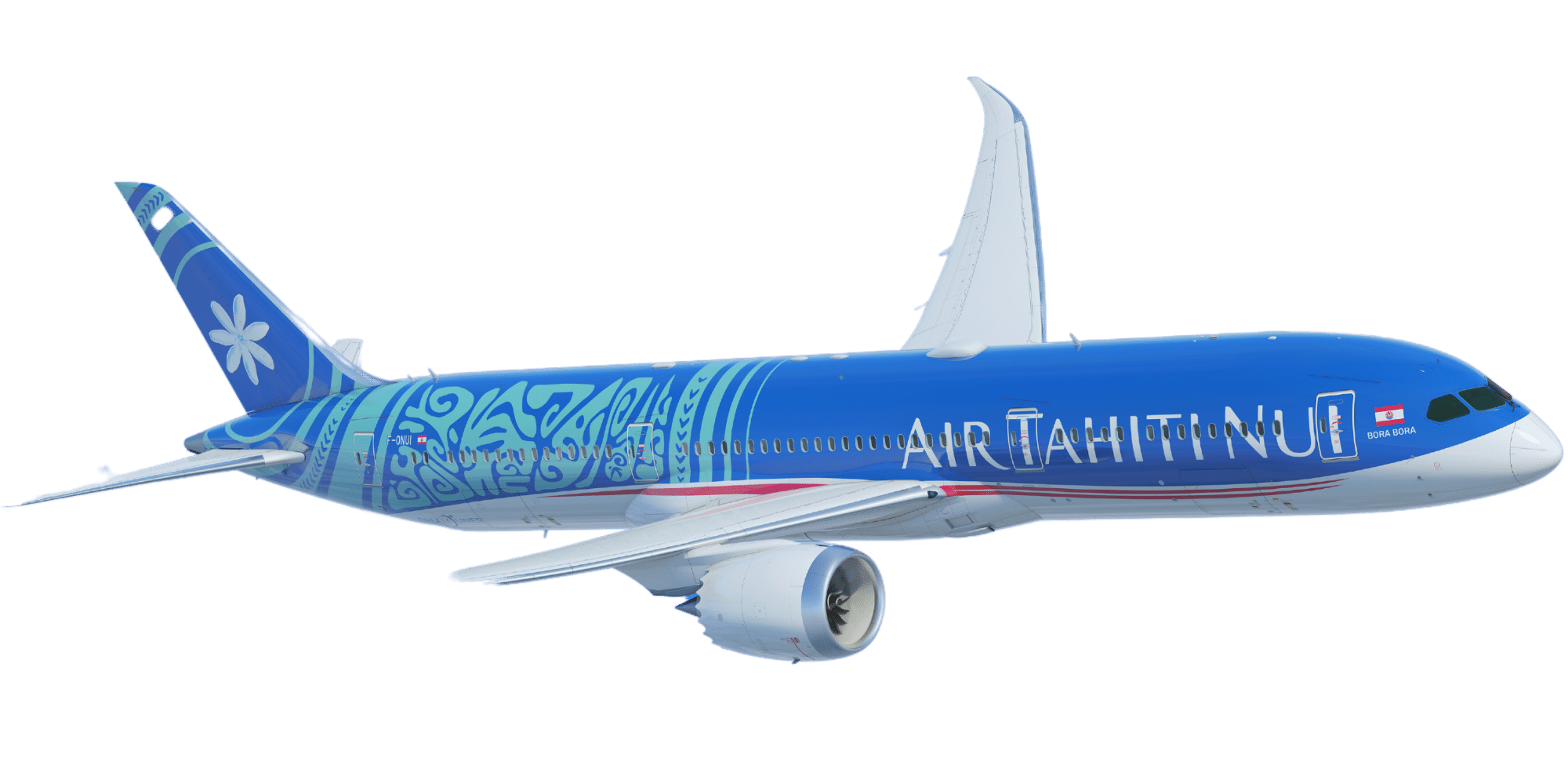 Resize Air Tahiti Nui plane transparent